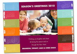 template promo card calendar