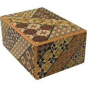 wooden decorated box for jewelry